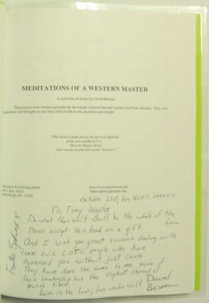 Meditations of a Western Master, A Collection of Essays.