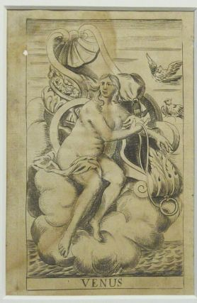 An original matted, illustration of the Goddess Venus from the 1678 edition of Robert...
