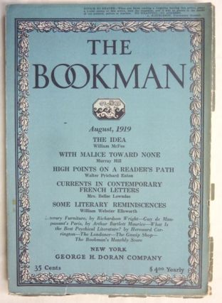 The Bookman, August 1919 - Vol. XLIX, No. 6. Hereward CARRINGTON, other authors contribute to...