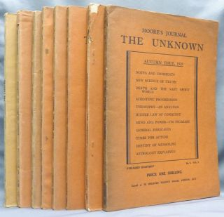 Moore's Journal, The Unknown, No. 1, Vol. I - Summer Issue, 1929; No.2, Vol. I - Autumn Issue,...
