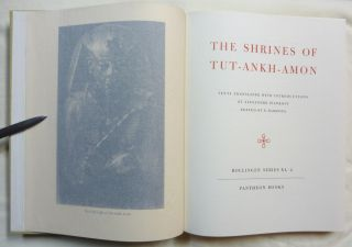 The Shrines Of Tut-Ankh-Amon. Bollingen Series XL. Egyptian Religious Texts and Representations. Vol. 2.