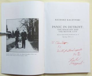 The Blue Equinox Journal, Issue 2 - Panic in Detroit: The Magician and the Motor City.