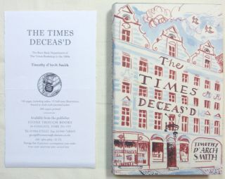 The Times Deceas'd. The Rare Book Department of the Times Bookshop in the 1960's (with related ephemera).