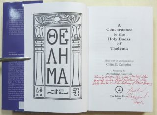 A Concordance to the Holy Books of Thelema.