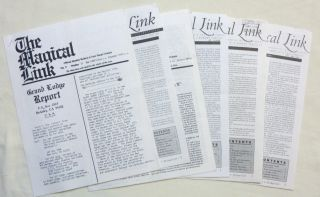 """The Magical Link."" 6 miscellaneous issues of the journal, Published by the O.T.O., (Not..."