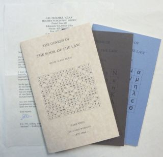 The Genesis of the Book of the Law. Part One: The Cairo Working - 1875-1904; Part Two: The Birth...