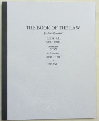 The Book of the Law. Aleister related CROWLEY, Marlene Cornelius, J. Edward Cornelius -, both, Jerry