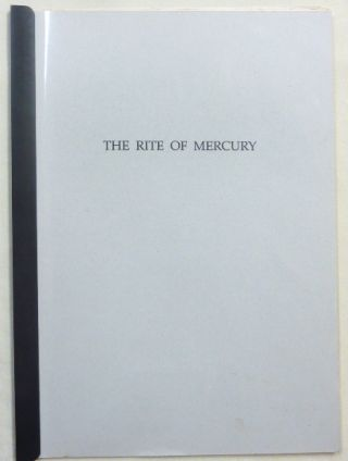 The Rite of Mercury. Aleister CROWLEY, Leila Waddell, George Raffalovich