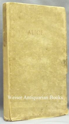 Alice: An Adultery. Aleister CROWLEY