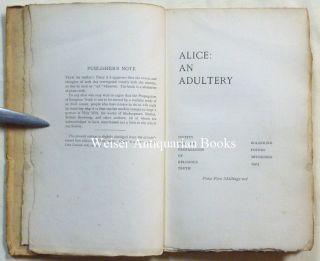Alice: An Adultery.