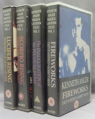 Kenneth Anger, Magick Lantern Cycle, Volumes 1 - 4, VHS VIDEO TAPES. Volume: 1 Fireworks, Eaux...
