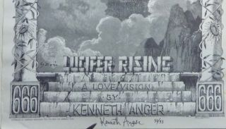 """A Signed, Numbered Poster for Kenneth Anger's """"Lucifer Rising: A Love Vision"""""""