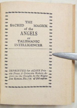 The Sacred Magick of the Angels.